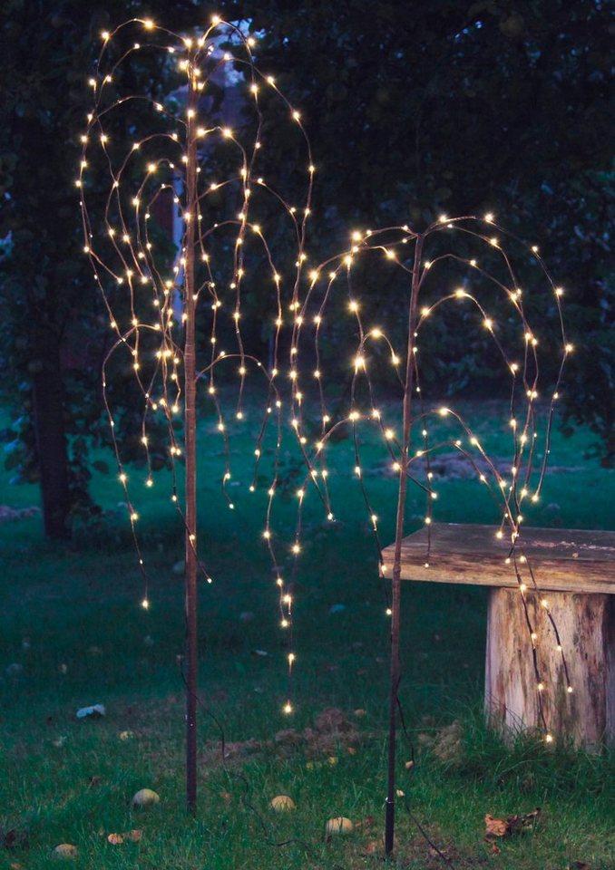 LED Baum, »Trauerweide« in braun