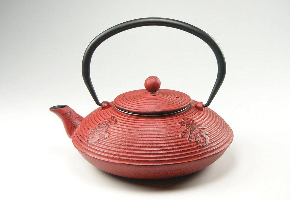 Teekanne, CreaTable in rot