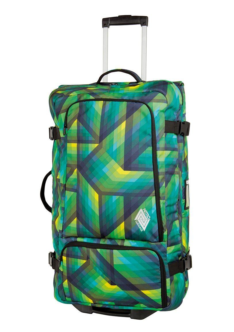 Nitro Trolley-Reisetasche mit 2 Rollen, »Team Gear Bag - Geo Green«
