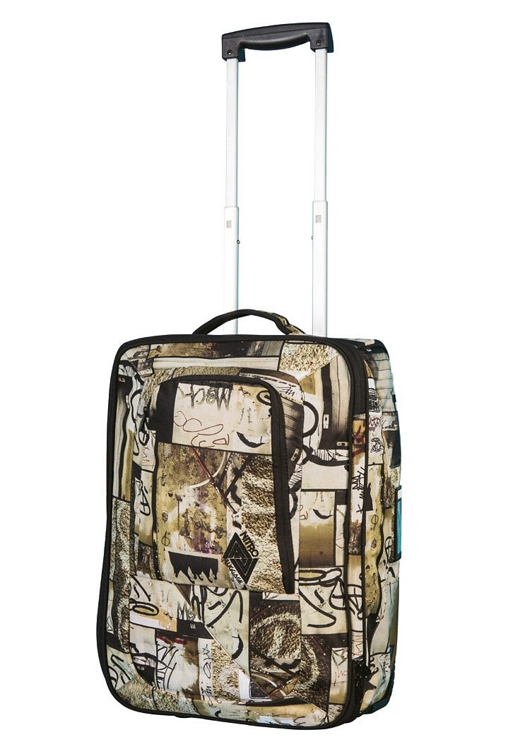 Nitro Trolley-Reisetasche mit 2 Rollen, »Team Carry On Bag - Berlin Grafitti«