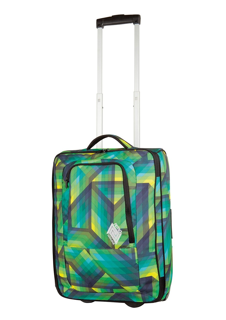 Nitro Trolley-Reisetasche mit 2 Rollen, »Team Carry On Bag - Geo Green«
