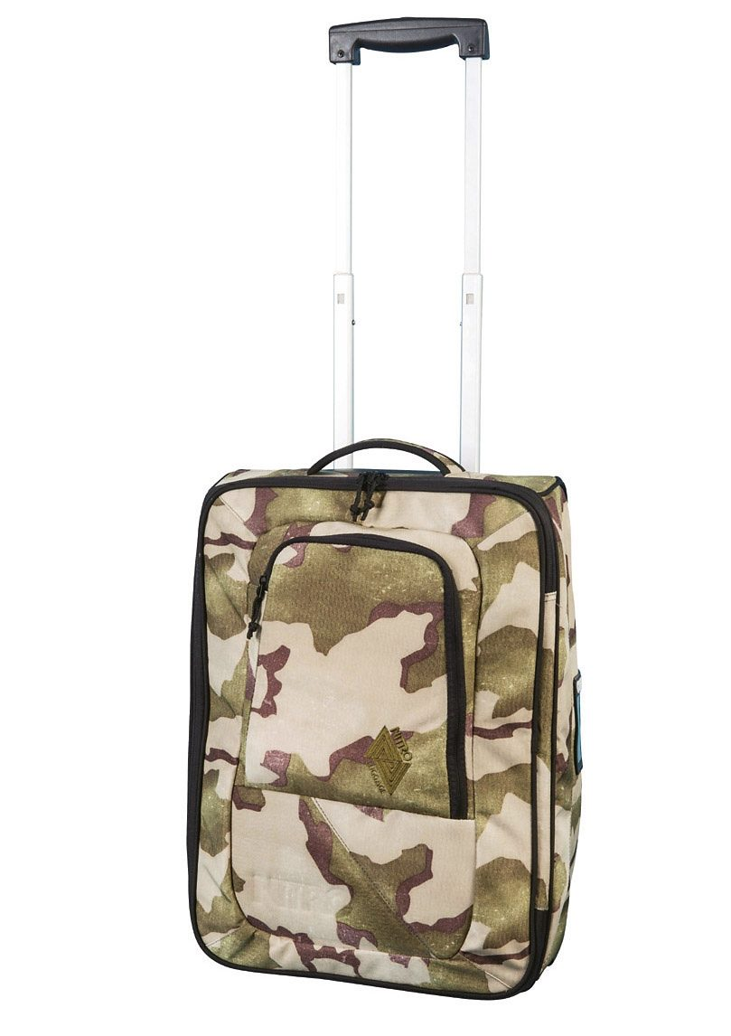 Nitro Trolley-Reisetasche mit 2 Rollen, »Team Carry On Bag - Desert Camo«