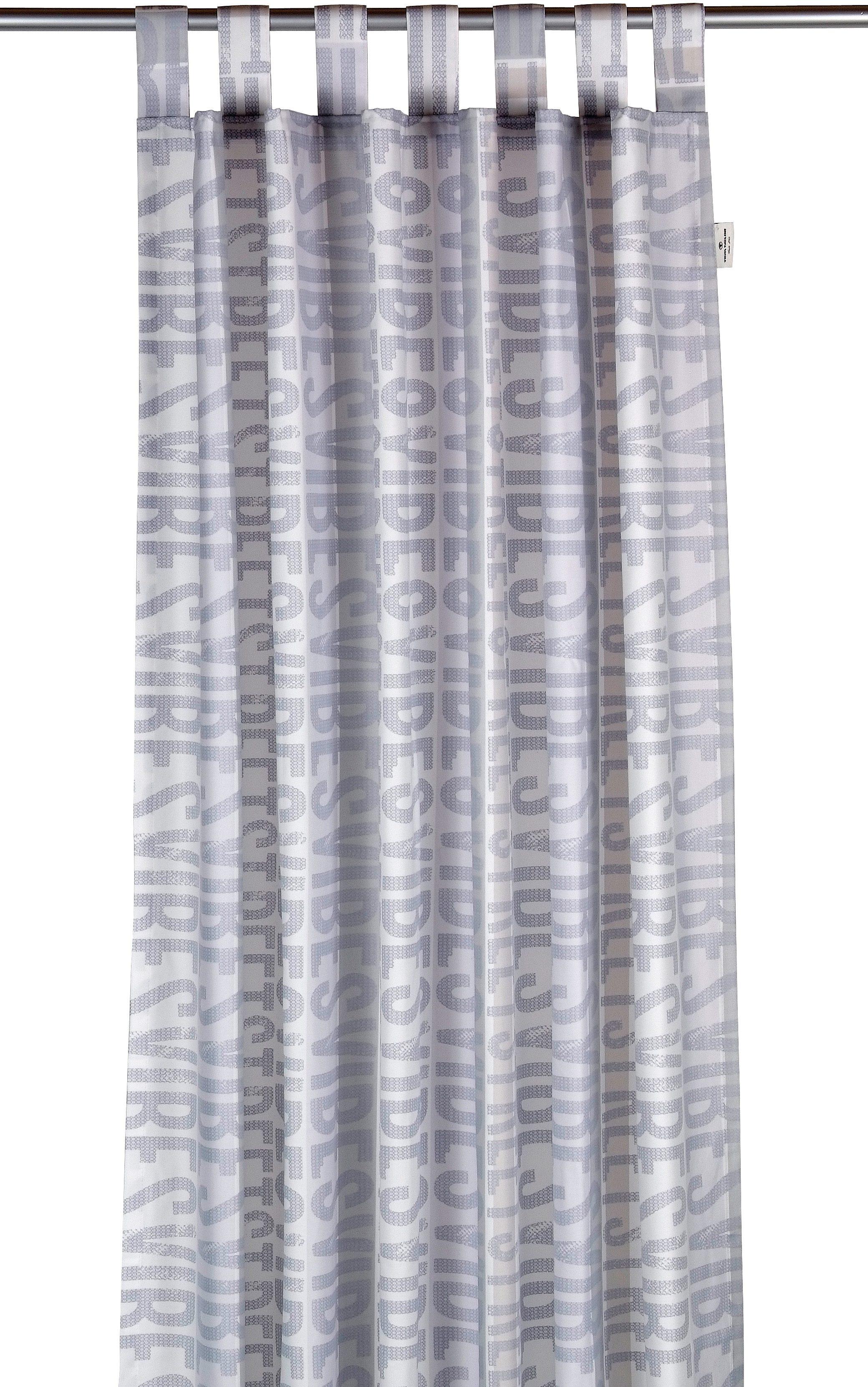 Vorhang, Tom Tailor, »Street Vibes«, mit Schlaufen (1 Stück)