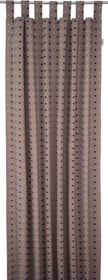 Vorhang, Tom Tailor, »Dots« (1 Stück) in schlamm/blau