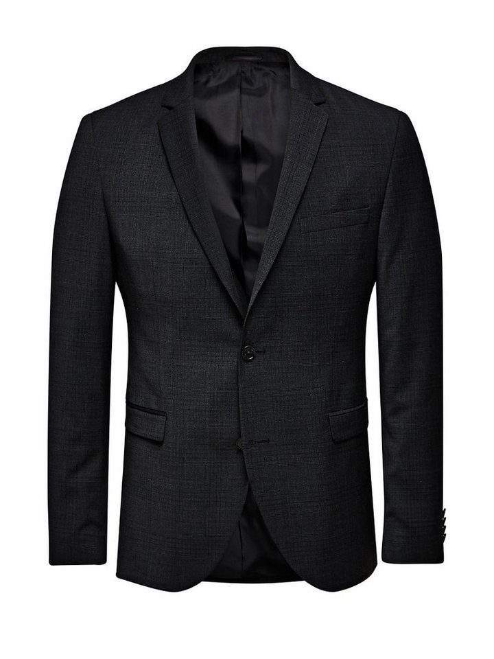Jack & Jones JJPRROY CHECK BLAZER PRM in Dark Grey