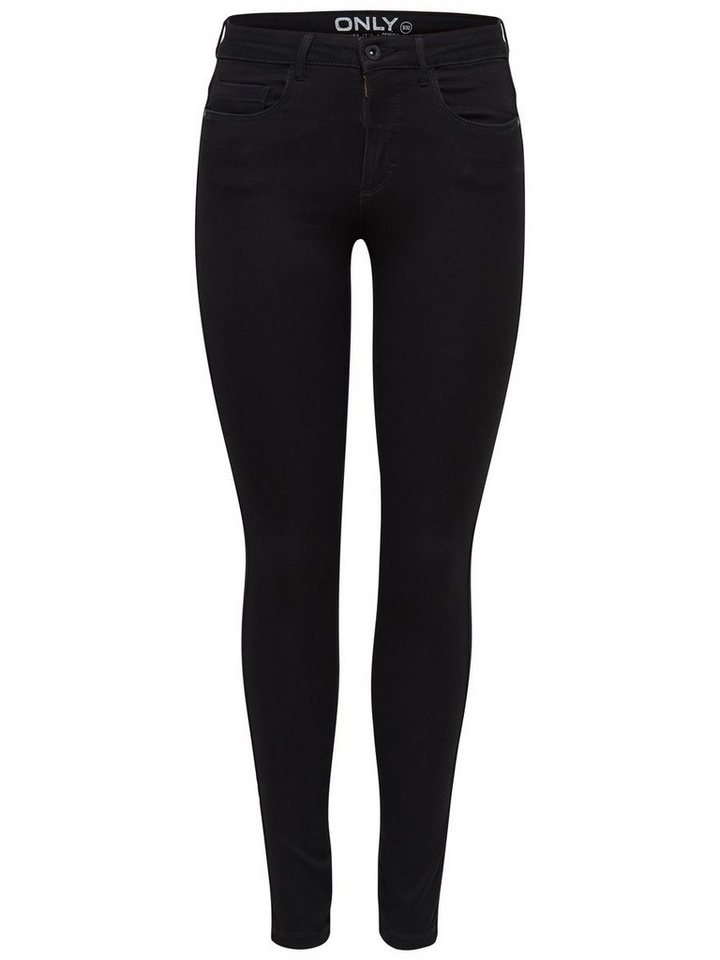 Only Royal reg. Röhrenjeans in Black
