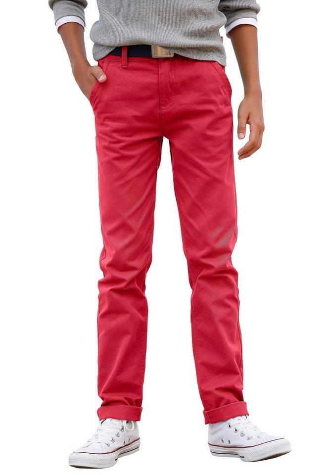 Arizona Chinohose für Jungen, Regular-fit in Rot