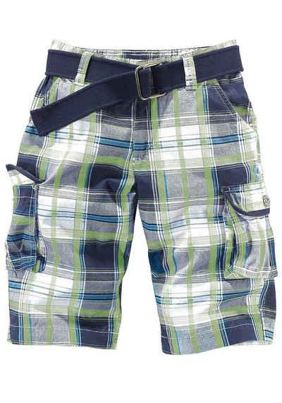 Arizona Bermudas (Set, 2 tlg) mit Textilgürtel und Cargotaschen 558f87fec6