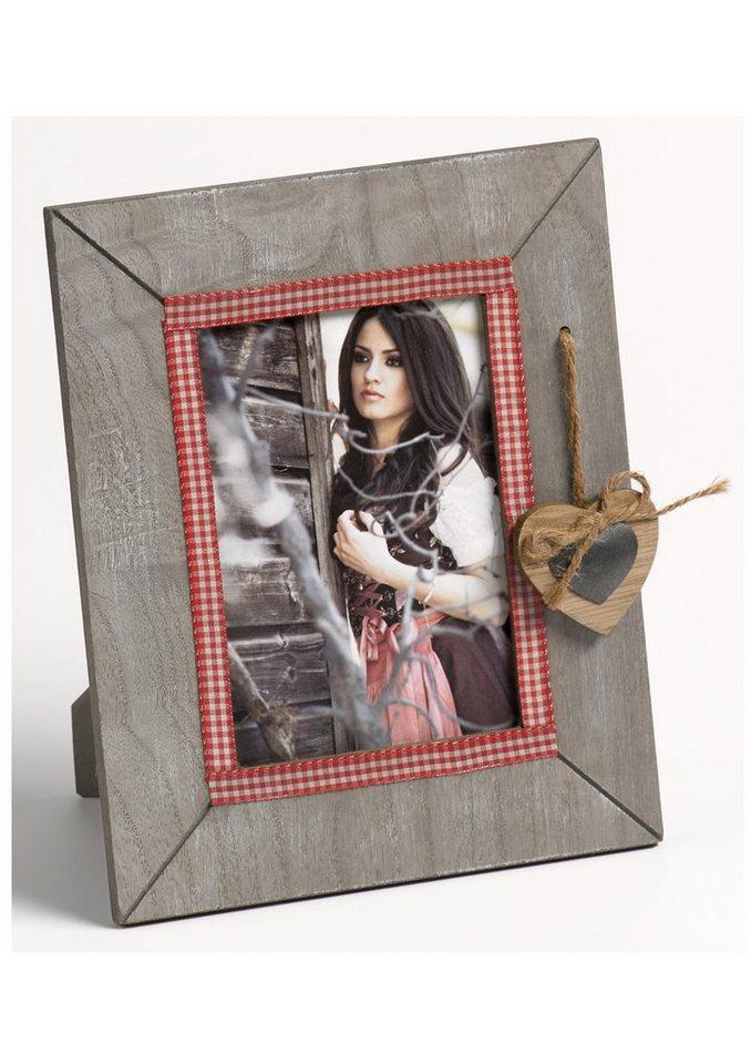 Home affaire Portraitrahmen »Bavarian Heart« (2er Set) in rot