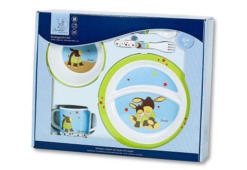 Sterntaler® Kindergeschirr-Set »Emmi, braun« (5-tlg), Polypropylen, mit Löffel und Gabel