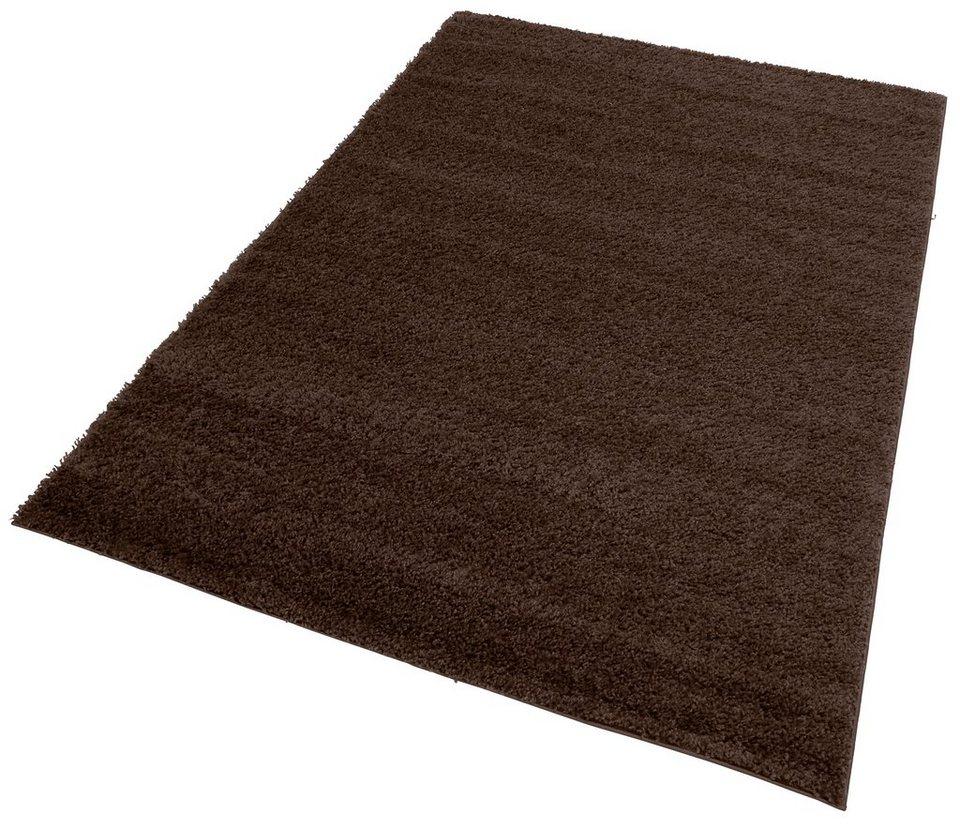 Teppich dunkelbraun  Hochflor-Teppich »Bodrum«, my home, rechteckig, Höhe 30 mm online ...