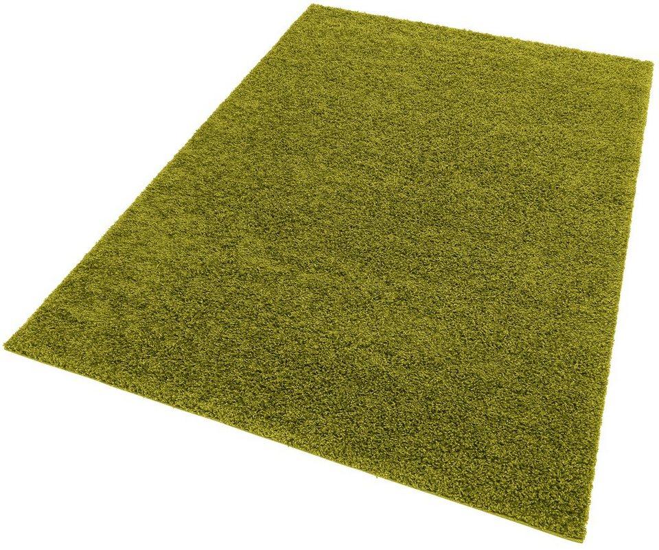 Hochflor-Teppich, my home, »Bentley«, Höhe 30 mm, gewebt in grün