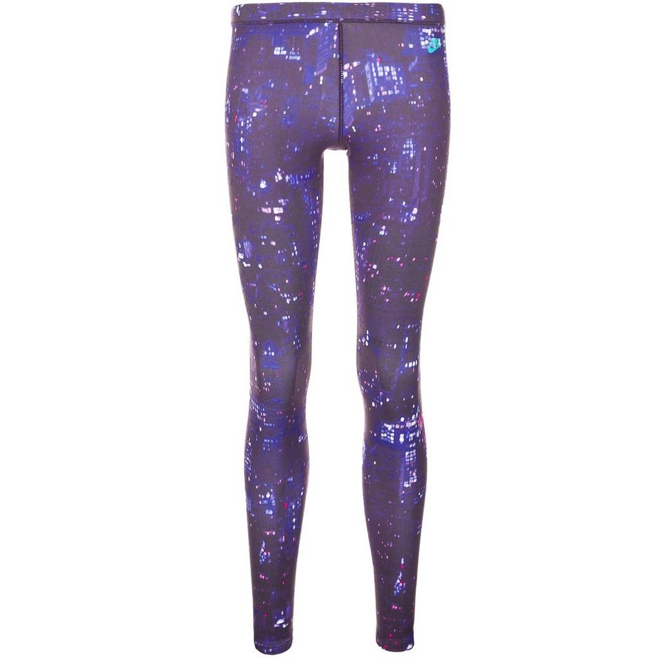 Nike Sportswear City Print Leggings Damen in lila