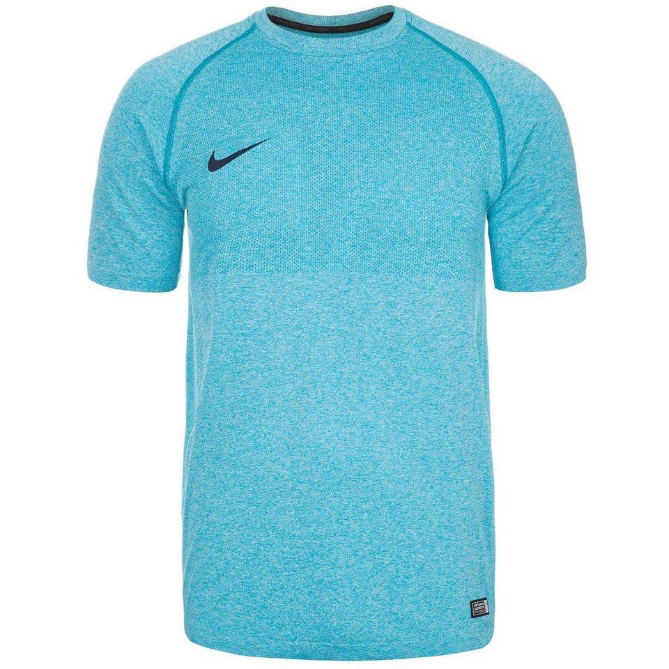 NIKE Select Seamless Trainingsshirt Herren in hellblau