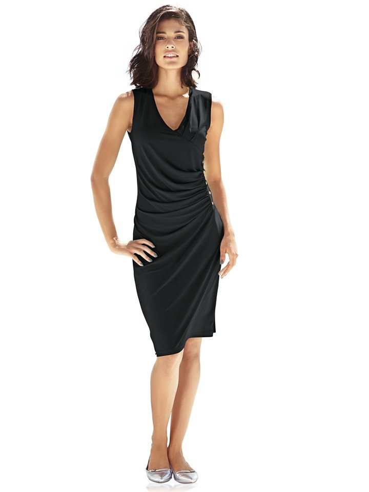 Jerseykleid in schwarz
