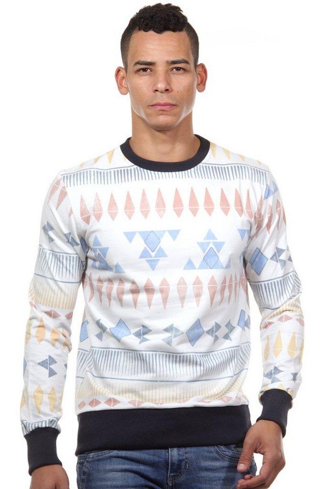 CATCH Sweatshirt slim fit in bunt/schwarz