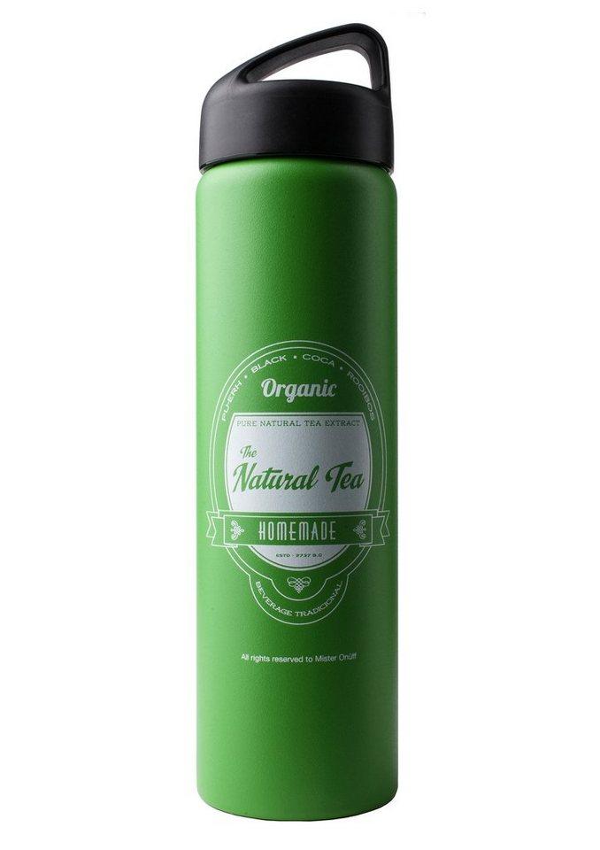 Thermosflasche, »Natural Tea«, Laken® in grün