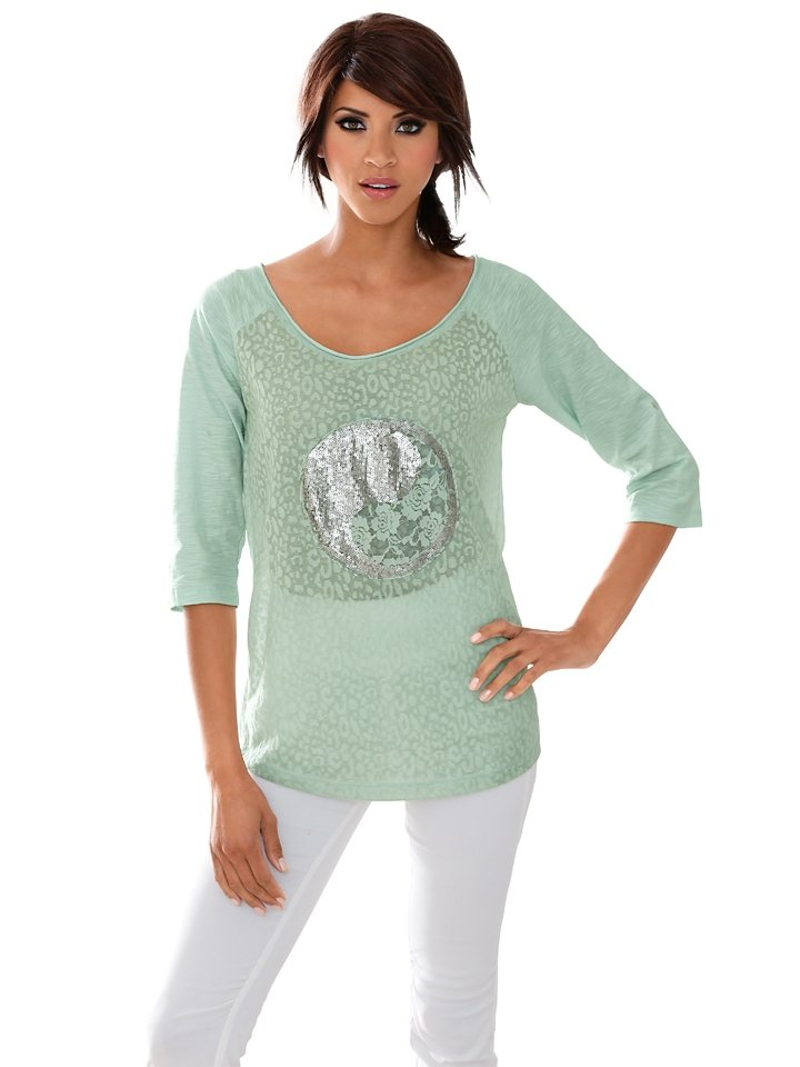 Oversized-Shirt in mint