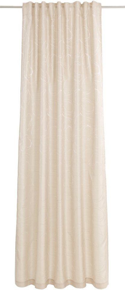 Vorhang, Deko trends, »Zaphiro«, mit verdeckten Schlaufen (1 Stück) in beige