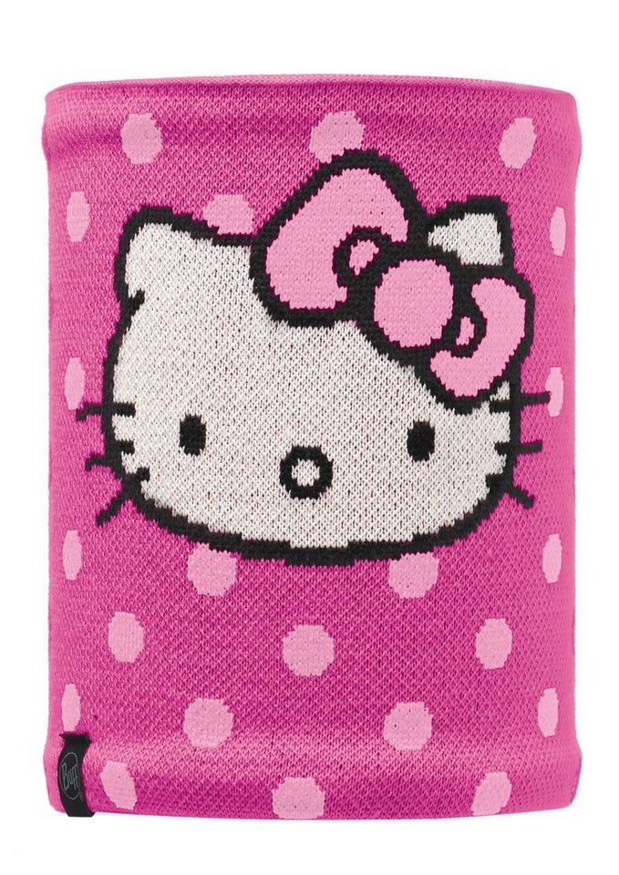 Schlauchtuch, »Hellodots Neckwarmer«, BUFF in rosa-weiß