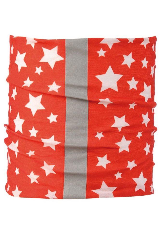 Halstuch, »Stars«, BUFF in rot-weiß