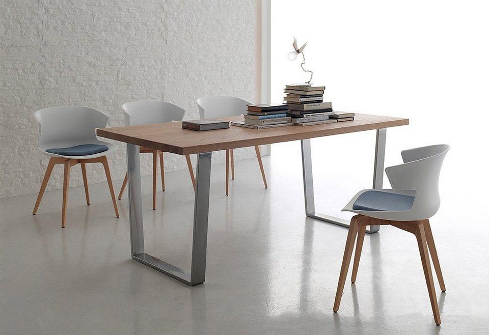 Roomed esstisch wood breite 180 cm kaufen otto for Esstisch eiche metallbeine
