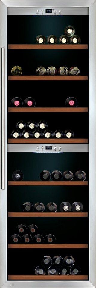 CASO Design Weinkühlschrank »WineMaster 180«, Höhe 186 cm, für 180 Bordeauxflaschen á 0,75l in Edelstahl