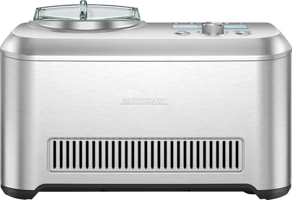 Gastroback Eismaschine Smart Ice Cream Advanced 42909, für 1 Liter Eiscreme, max. 200 Watt in Edelstahl