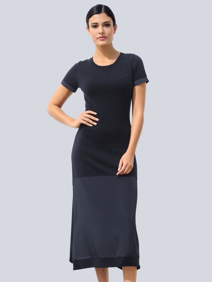 alba moda -  Strickkleid in effektvollem Materialmix