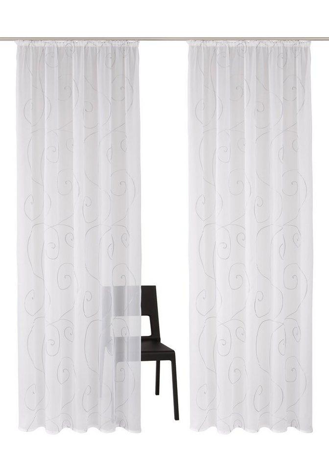 Gardine, my home, »Campinas« (2 Stück) in weiß-grau