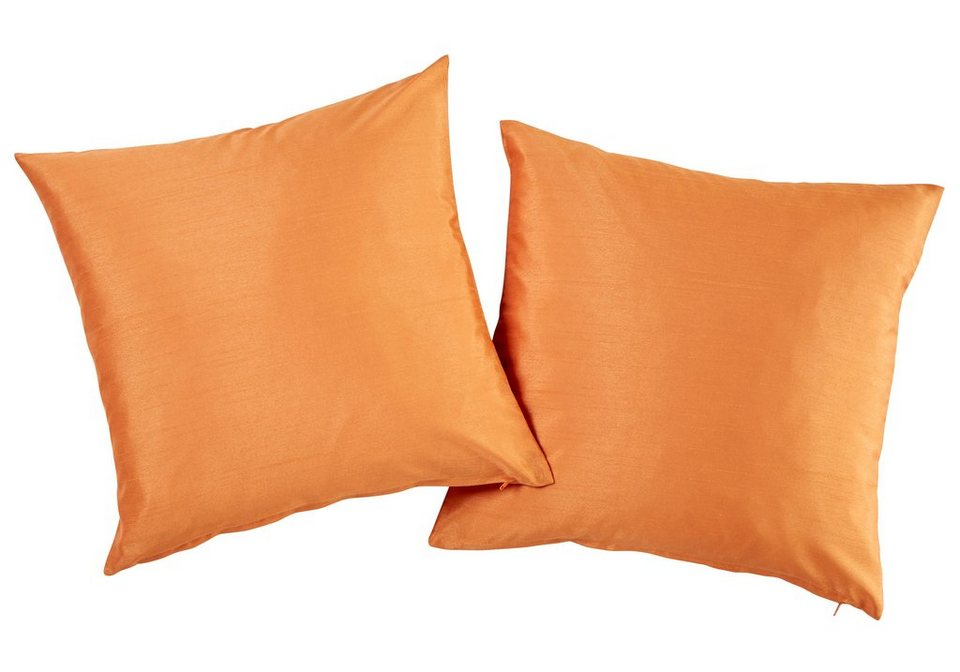 Kissenhüllen, my home, »Campinas« (2 Stück) in orange