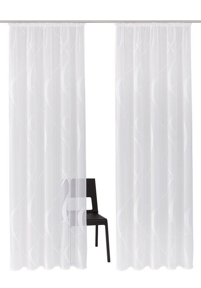 Gardine, my home, »Cellino« (2 Stück) in weiß-weiß