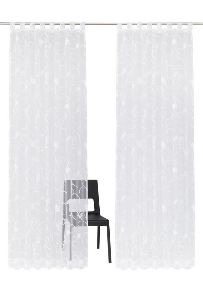 Gardine, my home, »Bahia« (2 Stück) in weiß