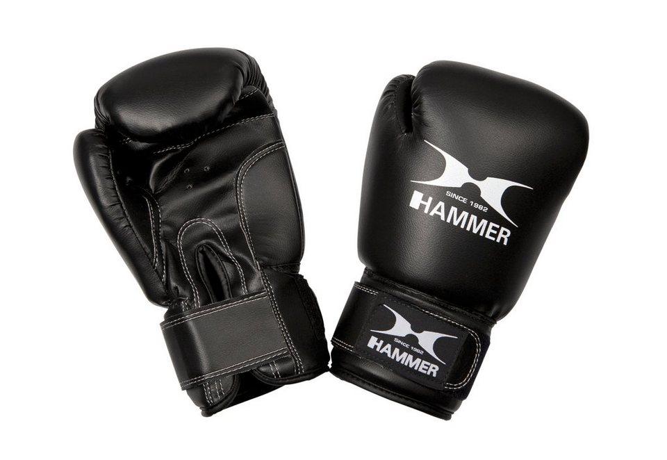 Boxhandschuhe, Hammer®, »Fit«, PU, schwarz in schwarz