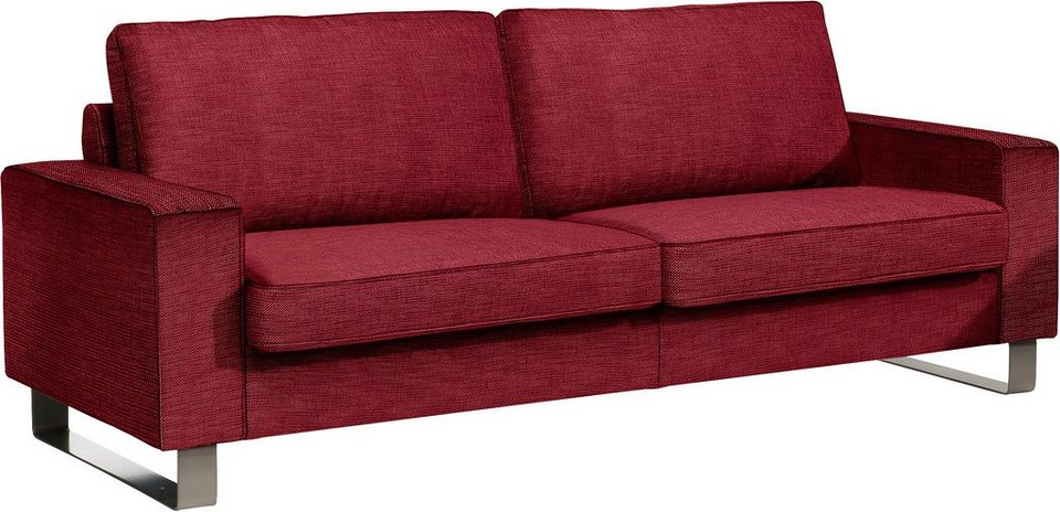 Ewald Schillig 2-Sitzer Sofa L »ConceptPlus«, mit eleganten Metallkufen, Breite 192 cm in bordeaux