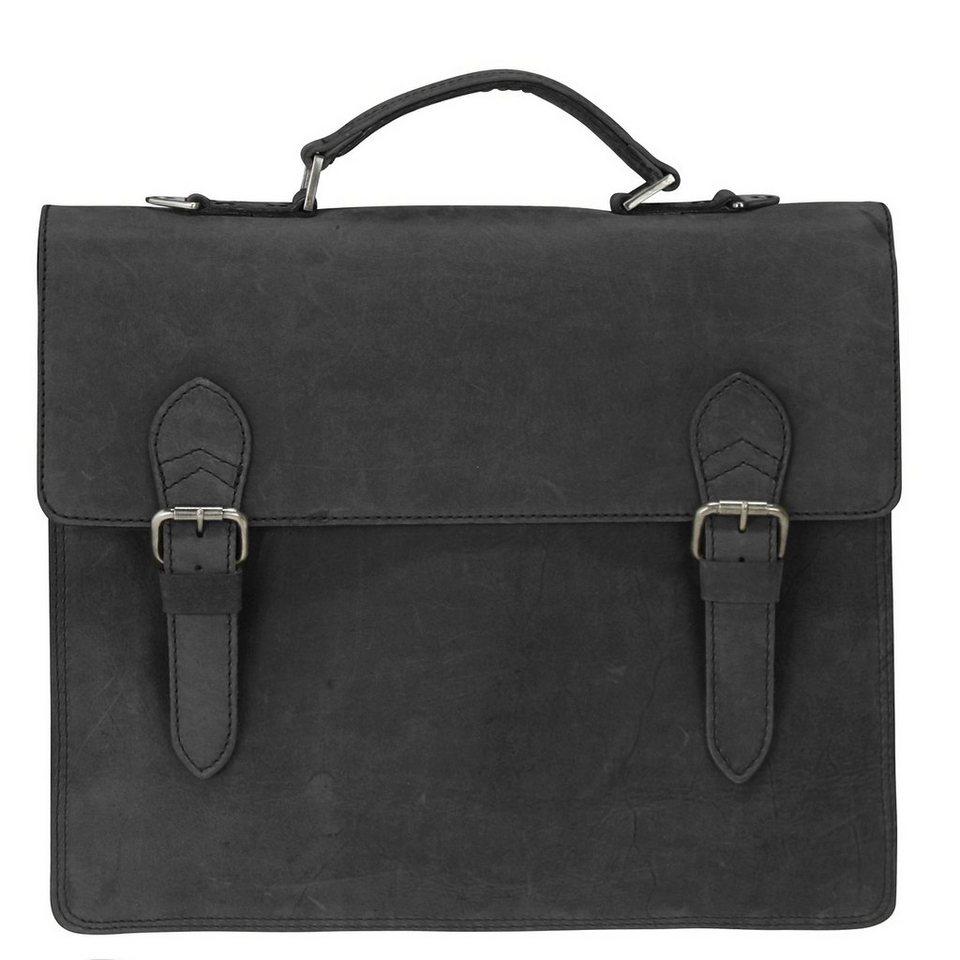 Harold's Aktentasche Leder 40 cm Laptopfach in schwarz