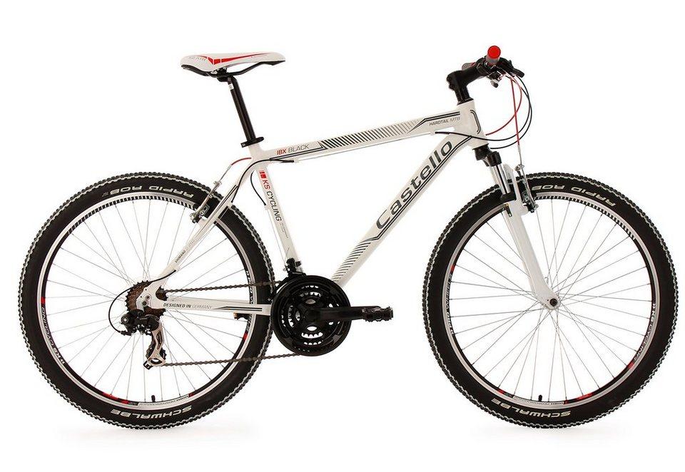Hardtail-Mountainbike, 26 Zoll, weiß, 21 Gang Kettenschaltung, »Castello IBX«, KS Cycling in weiß