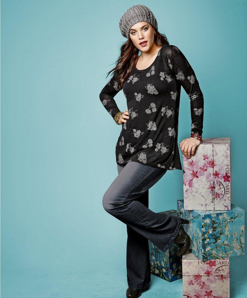 sheego Trend Pullover in schwarz
