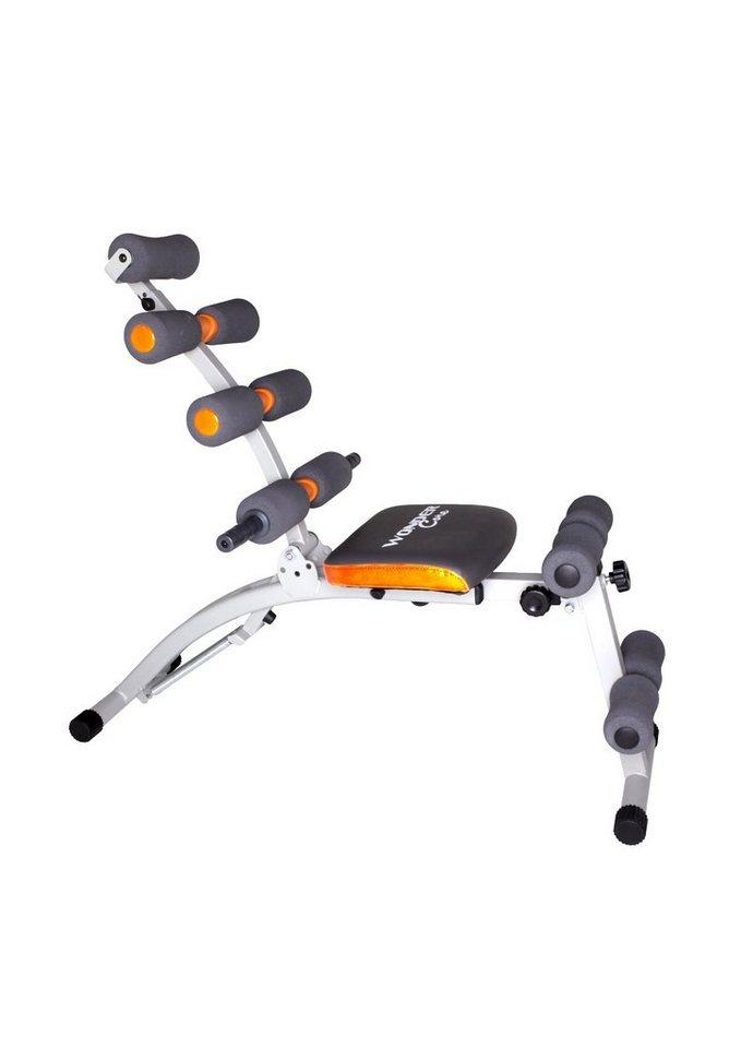 Ganzkörper-Fitnessgerät Heimtrainer, Wonder Core in silber-grau