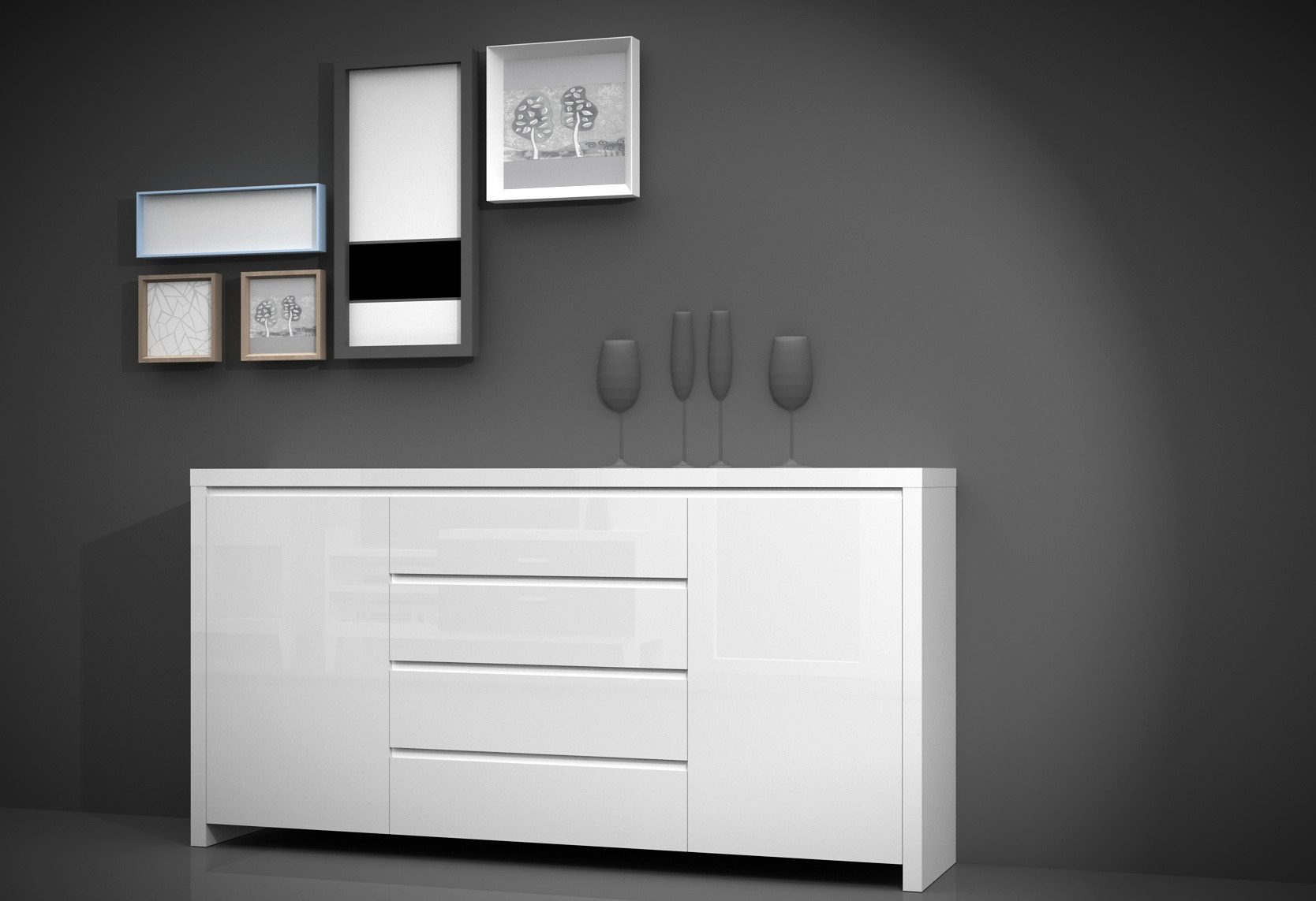 INOSIGN Sideboard, Breite 190 cm
