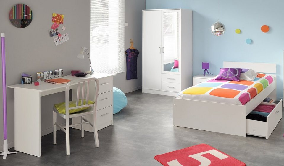 parisot jugendzimmer set 4 oder 5 tlg kaufen otto. Black Bedroom Furniture Sets. Home Design Ideas