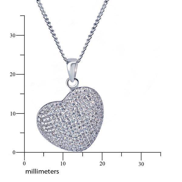 goldmaid Collier Herz 925/- Sterlingsilber 239 klare Zirkonia