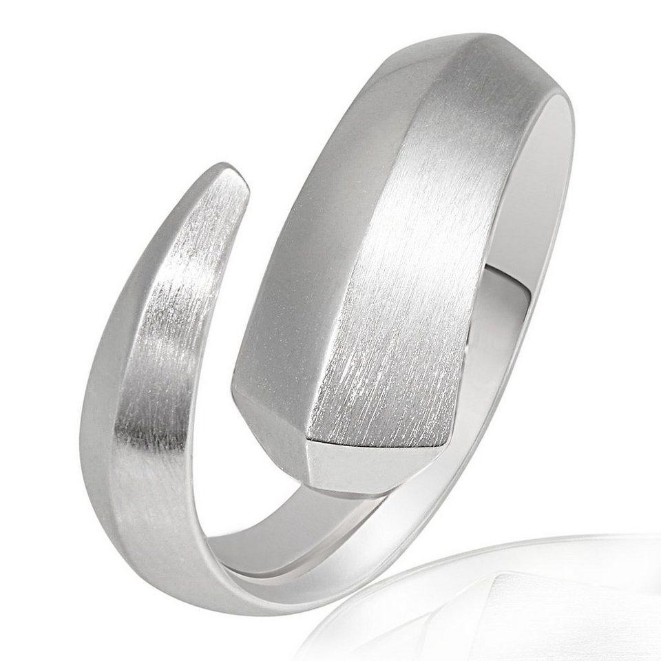 Averdin Damenring Silber 925/- poliert und matt Fantasy in silberfarben