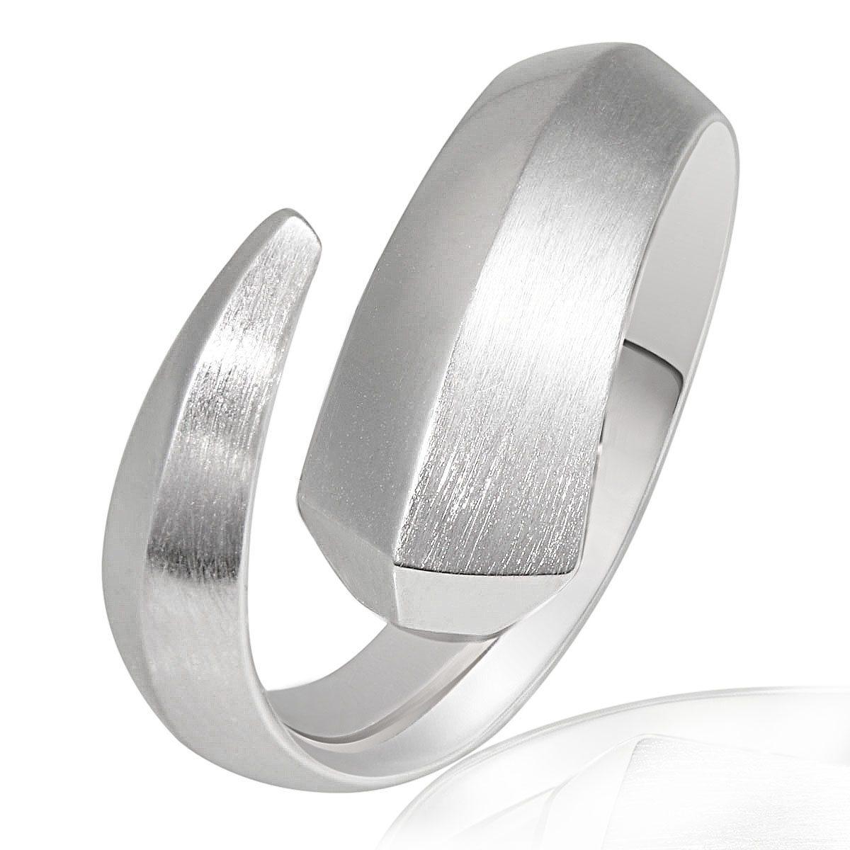 Averdin Damenring Silber 925/- poliert und matt Fantasy