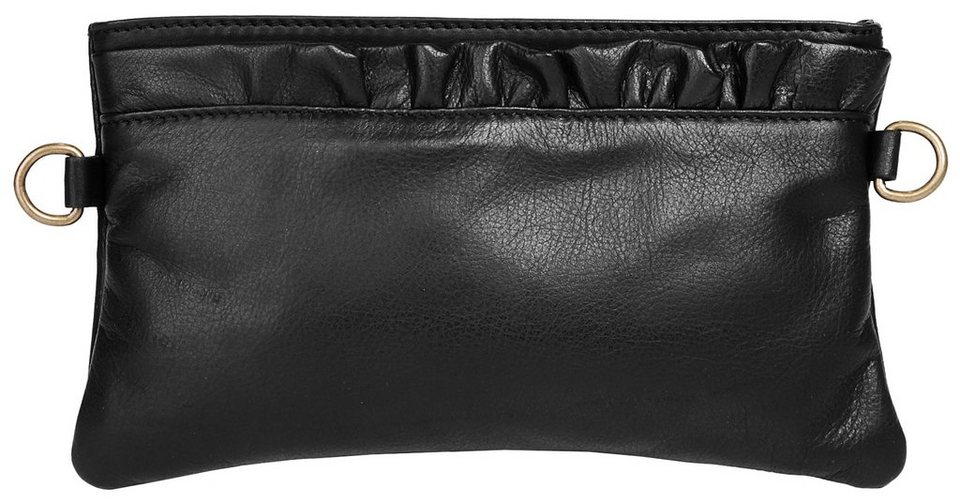 Samantha Look Leder Damen Abendtasche/ Clutch in schwarz