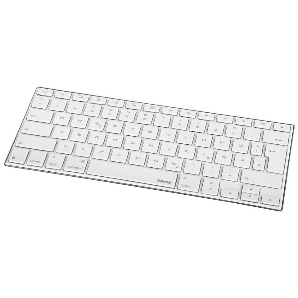 Hama Bluetooth-Tastatur KEY2GO X1000 für Apple iOS in Weiß