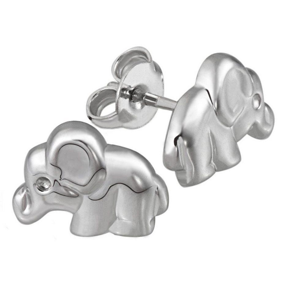 Averdin Paar Ohrstecker Silber 925/- Elefant in silberfarben