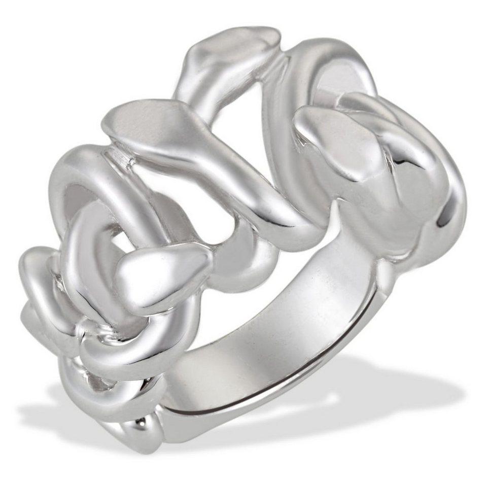 Averdin Damenring Silber 925/- Schlangenform in silberfarben
