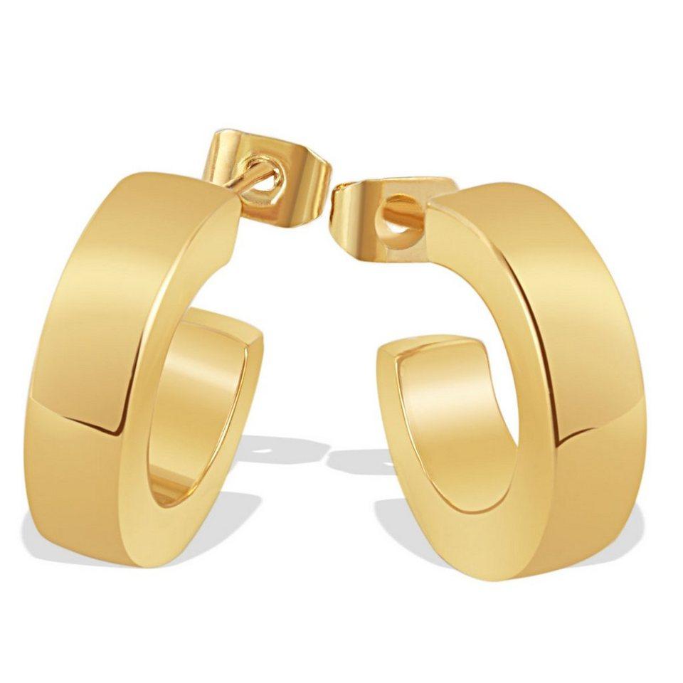 Averdin Paar Ohrstecker hochglanz Messing in goldfarben