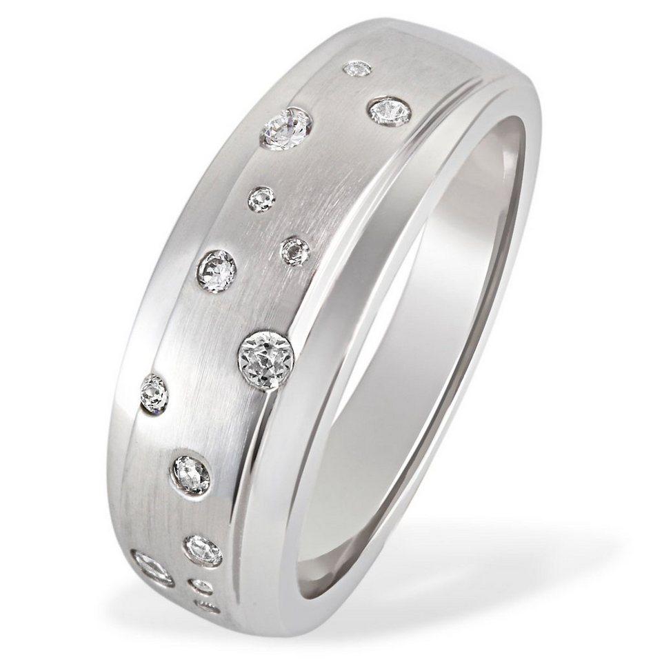 Averdin Damenring 925/- Silber 13 Zirkonia Sternenhimmel in silberfarben